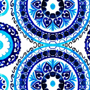 Watercolor IKAT Design