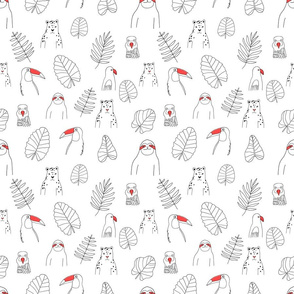 rainforest animals pattern2