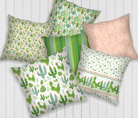 Cacti Mix - Leaf Print