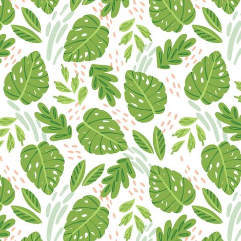 Cacti Mix - Leaves fabric by malibu_creative on Spoonflower - custom fabric