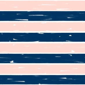 navy and blush stripes // stripe fabric nursery baby design girls stripes coordinate fabric