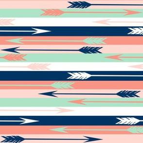 arrow stripes fabric // stripes and arrows design nursery baby design