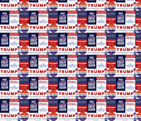 Trump Make America Great Again fabric by lorlajo on Spoonflower - custom fabric