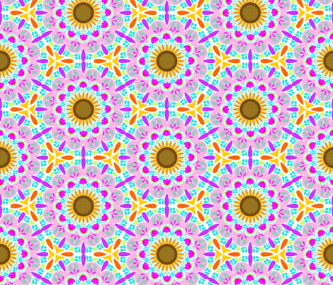 Summer Sunshine Mandala fabric by denise_ortakales on Spoonflower - custom fabric