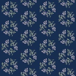 Lupine triangle on navy, small p