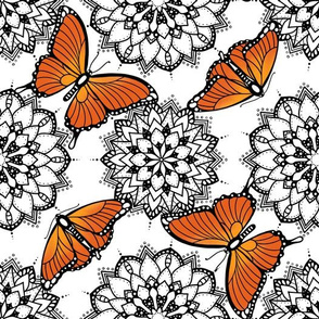 Butterflies and mandalas 1