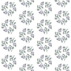 Lupine triangle on white small print