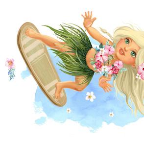 """42""""X36"""" SURFER GIRL / MINKY / 90 DEGREES"""