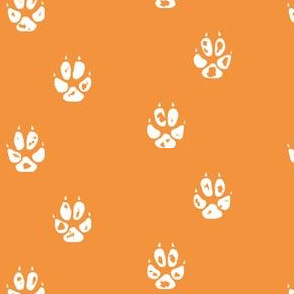 orange fox paw print