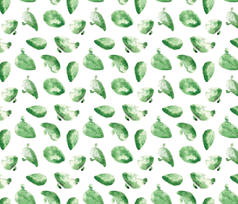 Watercolor Cactus fabric by northeighty on Spoonflower - custom fabric