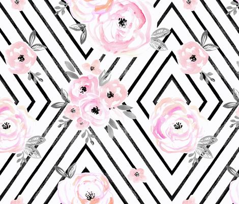 Blush Roses Mod fabric by crystal_walen on Spoonflower - custom fabric
