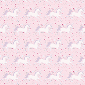 SMALL Dancing Unicorn in Rose Cloud
