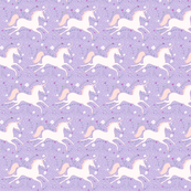 SMALL Dancing Unicorn in Lilac Dream
