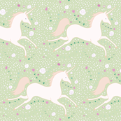 Dancing Unicorn in Spring Green