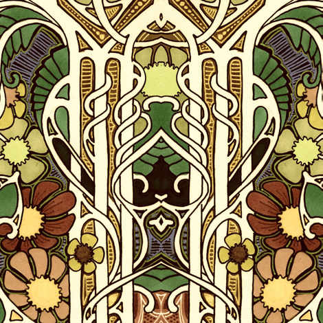 Autumn 1911  Returns For a Visit fabric by edsel2084 on Spoonflower - custom fabric