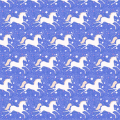 SMALL Dancing Unicorn in Blue Moon