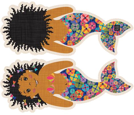 African Mermaid  fabric by leventetladiscorde on Spoonflower - custom fabric