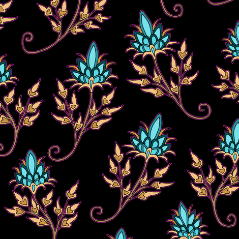 Twist Floral fabric by pond_ripple on Spoonflower - custom fabric