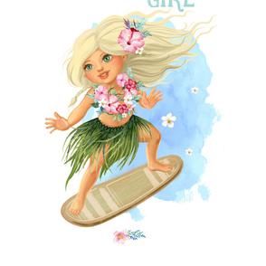 "2 YARDS / 56""X72"" / SURFER GIRL"