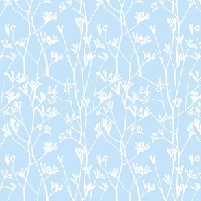 Pale blue kangaroo pattern