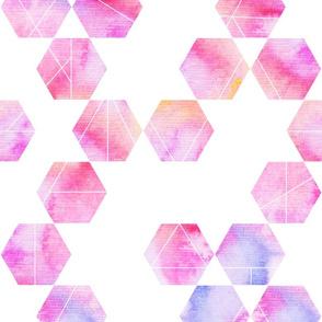 Light watercolour hexagon pattern