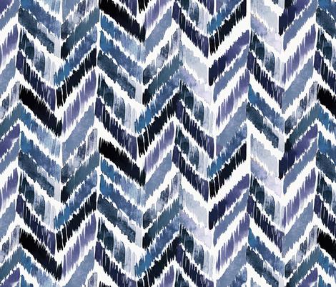Tropical Ikat Indigo fabric by crystal_walen on Spoonflower - custom fabric