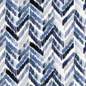Tropical Ikat Indigo