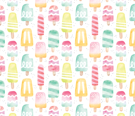 Summer Treat Popsicles - Large fabric by sugarfresh on Spoonflower - custom fabric