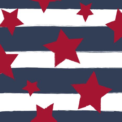 Stars and Stripes fabric by sugarfresh on Spoonflower - custom fabric