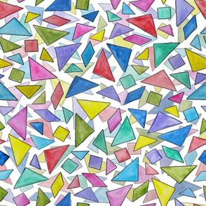 Watercolor Tangrams