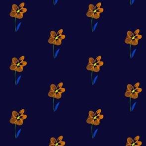 Little Orange Dreamflower on Blackberry