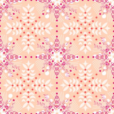 Island Trade Winds - shell fabric by cinneworthington on Spoonflower - custom fabric