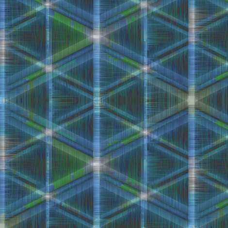 Tribal Geometry (Blue) fabric by david_kent_collections on Spoonflower - custom fabric