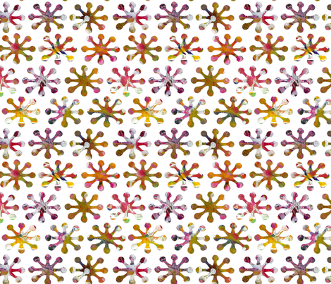 Purple and Gold Stars fabric by collectedhandstextiles on Spoonflower - custom fabric