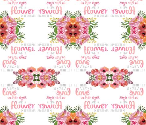 Love In Her Eyes fabric by sweet_peach on Spoonflower - custom fabric