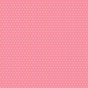 ladybug polka dot on dark pink
