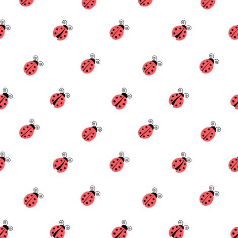 ladybug red (45) fabric by littlearrowdesign on Spoonflower - custom fabric