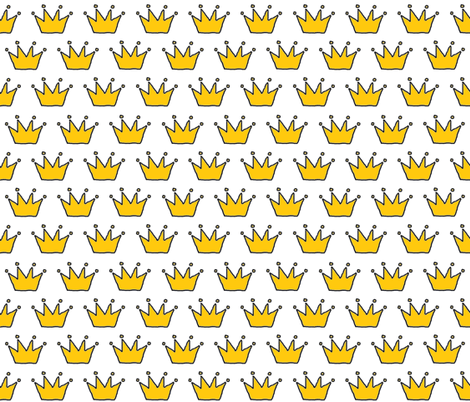 Gold Crowns fabric by karliqdesigns on Spoonflower - custom fabric