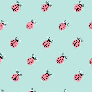 ladybug || pink on blue (45)