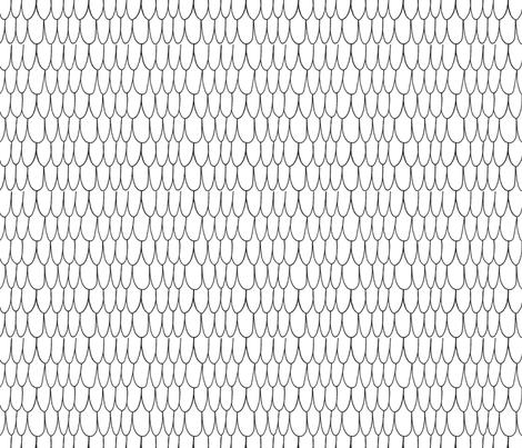 Scales Black and White fabric by minikuosi on Spoonflower - custom fabric