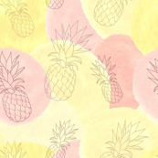 Pineapple Watercolor Spots