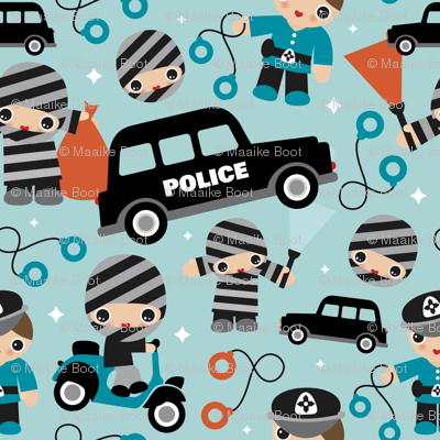 Thiefs cobs and robbers police theme Small
