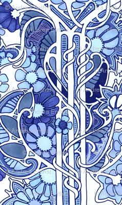 Doing the Art Nouveau Paisley Garden Twist Blues