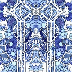 Doing the Art Nouveau Paisley Garden Twist Blues