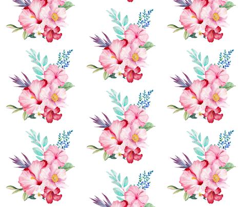 "14"" SURFER GIRL FLOWERS fabric by shopcabin on Spoonflower - custom fabric"