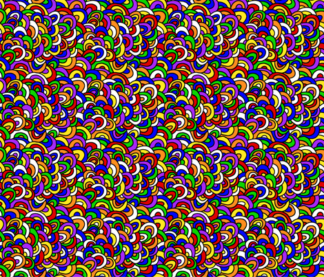 Lateral Designs TriWave Rainbow fabric by lateral_designs on Spoonflower - custom fabric