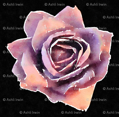Watercolored Paper Flower