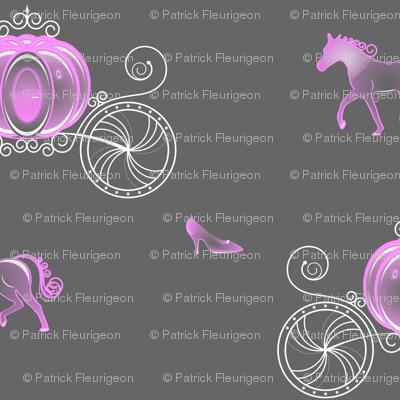 Princess Carriage - Pink and grey