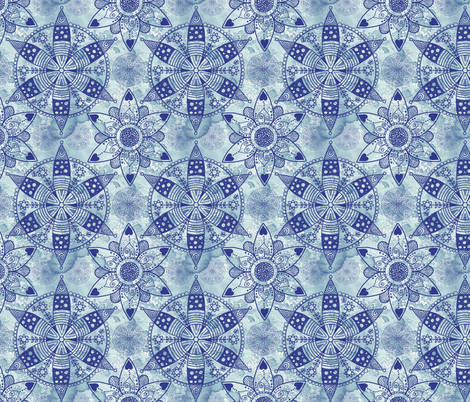 mandala_pattern_1 fabric by mgdoodlestudio on Spoonflower - custom fabric