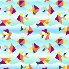 Tangram Tropical Fish